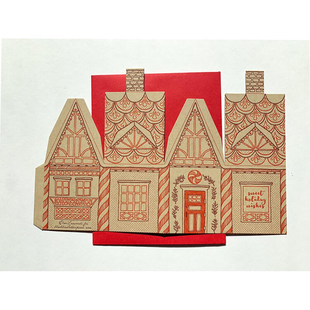 3d Gingerbread House Greeting Card