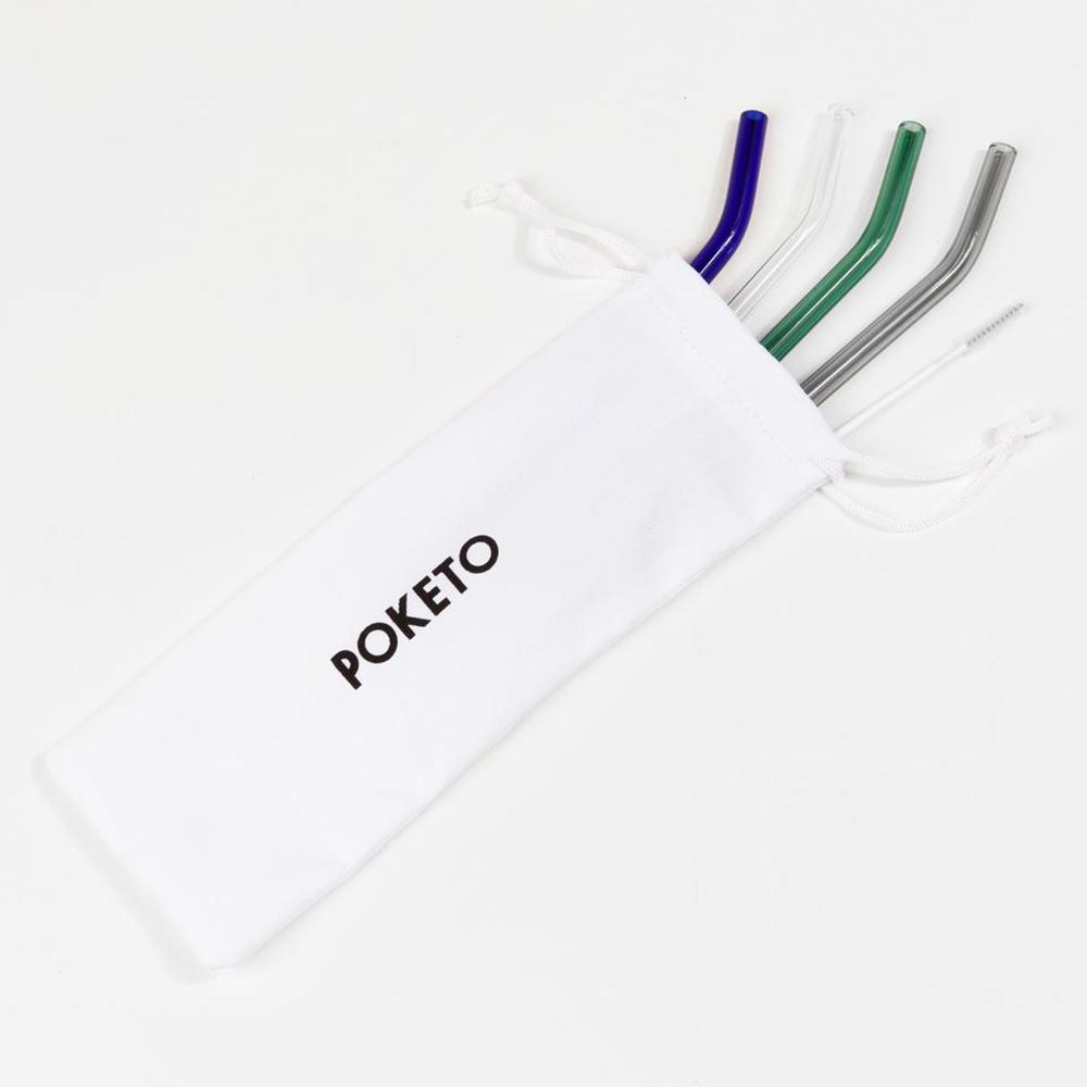 Poketo Glass Straws - Cool Colors
