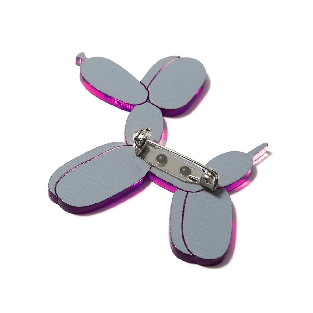 Balloon Dog Pin - Purple