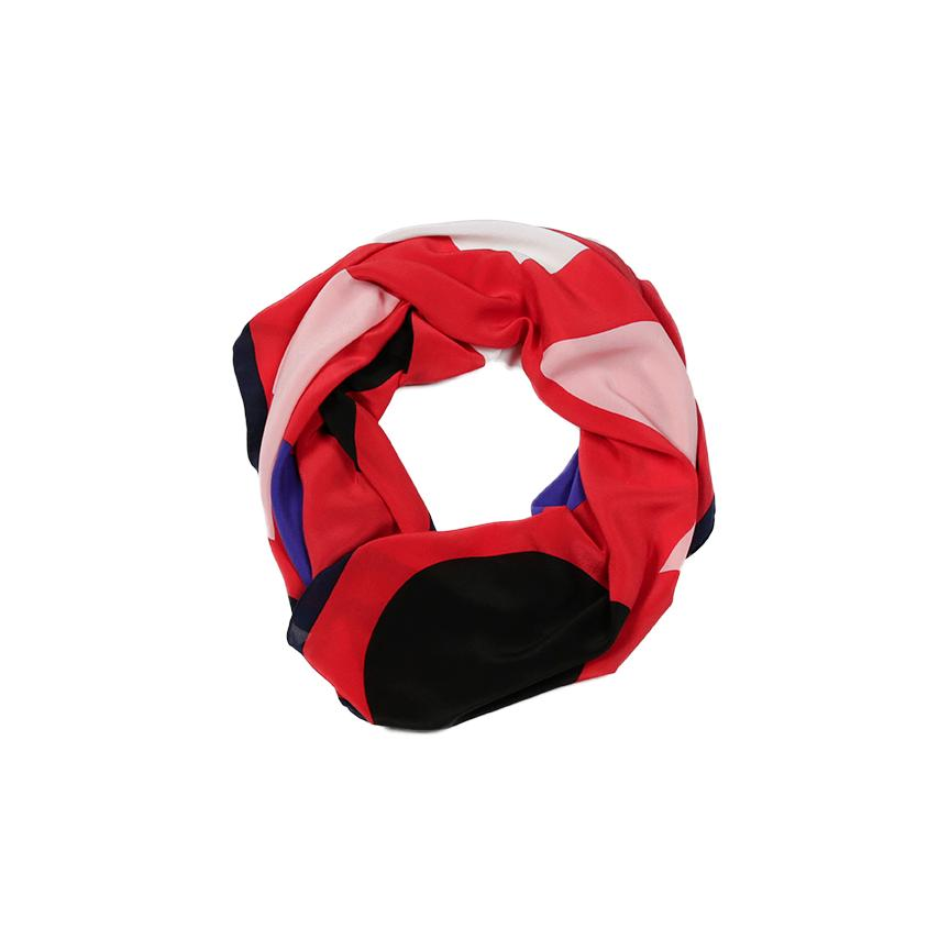 Shapes Scarf - Red