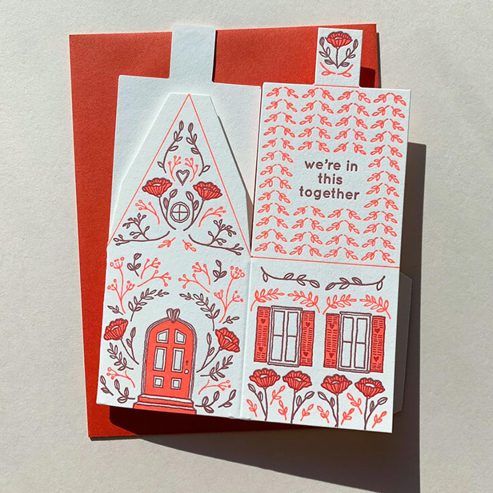 We ' Re In This Together 3d House Card