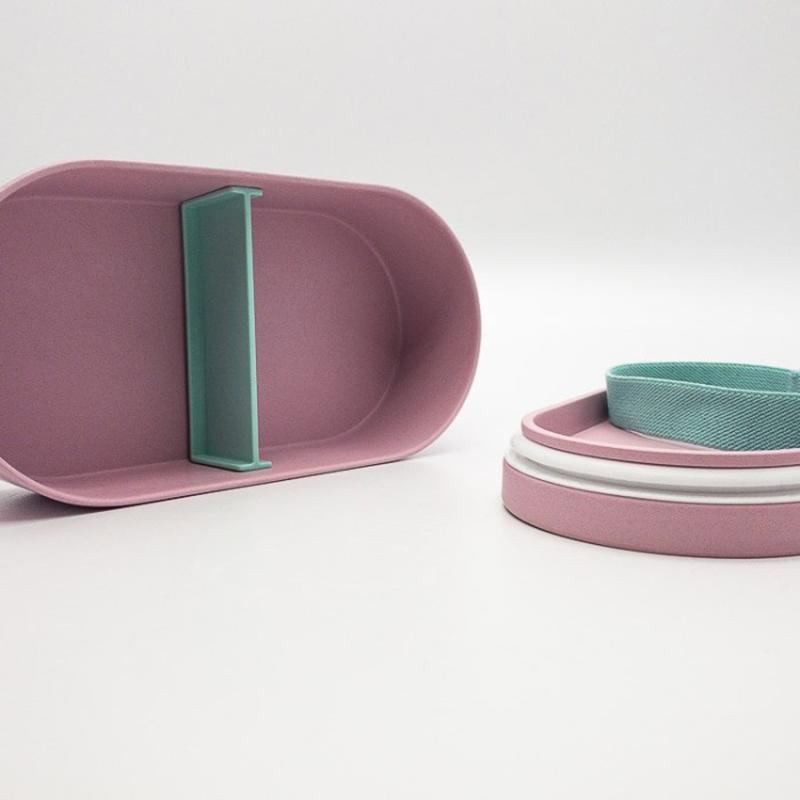 Bamboo Bento Lunch Box - Pink